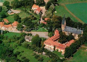 AK / Ansichtskarte Lage Rieste Pfarr und Wallfahrtskirche des Kreuzes zu Lage St Johannes und Kommende Fliegeraufnahme Lage Rieste