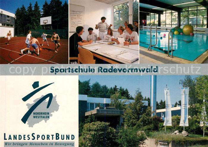 AK / Ansichtskarte Radevormwald Sportschule Schwimmbad Basketball Radevormwald Kat. Radevormwald