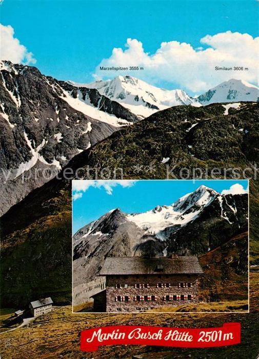 AK / Ansichtskarte Martin Busch Huette Panorama Bergketten Martin Busch Huette