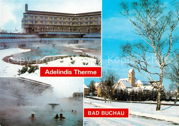 AK / Ansichtskarte Bad Buchau Federsee Adelindis Therme Winter Bad Buchau Federsee Kat. Bad Buchau