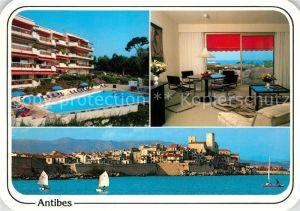 AK / Ansichtskarte Antibes Alpes Maritimes Hotelanlagen Panorama Antibes Alpes Maritimes Kat. Antibes
