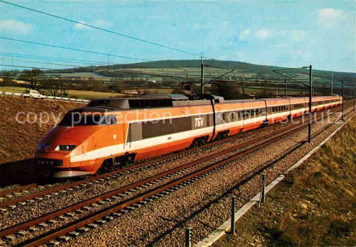 AK / Ansichtskarte Eisenbahn Train a Grande Vitesse de la S.N.C.F.  Eisenbahn Kat. Eisenbahn
