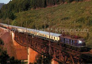 AK / Ansichtskarte Eisenbahn Elektro Schnellzuglokomotive 118 014 0 Deutsche Bundesbahn Moehren Eisenbahn Kat. Eisenbahn