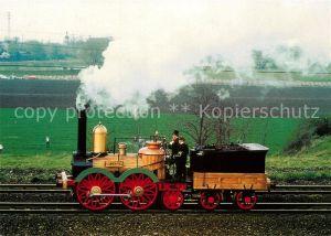AK / Ansichtskarte Lokomotive Dampflokomotive Saxonia  Lokomotive Kat. Eisenbahn