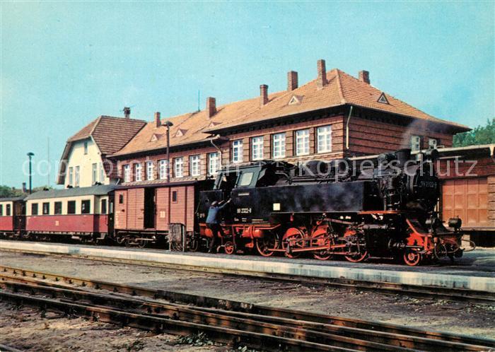 AK / Ansichtskarte Lokomotive Bahnhof Kuehlungsborn  Lokomotive Kat. Eisenbahn