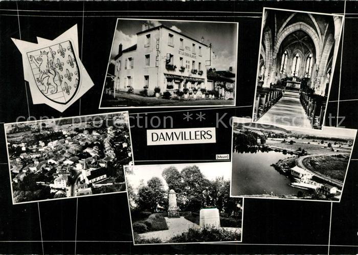 AK / Ansichtskarte Damvillers Hotel de la Croix Blanche Eglise Monument vue aerienne Damvillers Kat. Damvillers