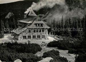 AK / Ansichtskarte Hala Gasienicowa Schronisko PTTK Murowaniec Tatry Berghuette Hohe Tatra