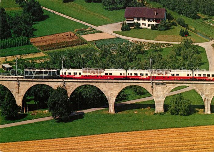 AK / Ansichtskarte Eisenbahn Trans Europ Panorama Zug Bussnanger Viadukt  Eisenbahn Kat. Eisenbahn