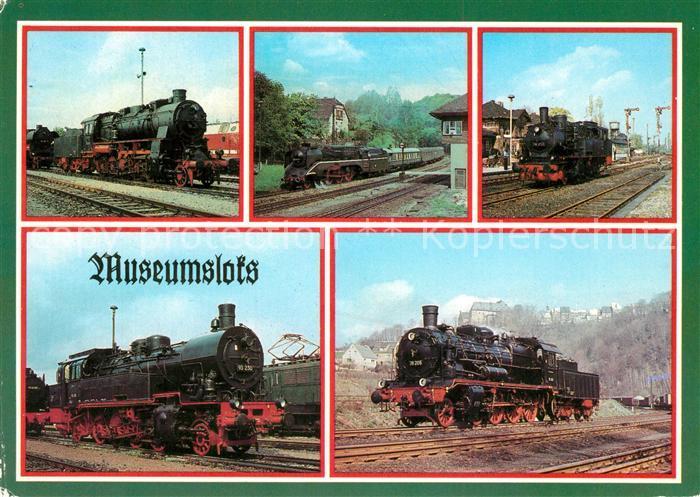 AK / Ansichtskarte Lokomotive Museumslokomotiven  Lokomotive Kat. Eisenbahn
