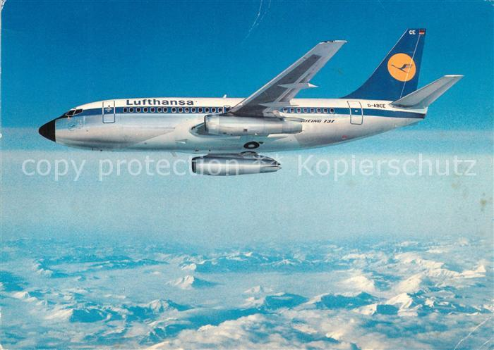 AK / Ansichtskarte Lufthansa Boeing 737 City Jet  Lufthansa Kat. Flug