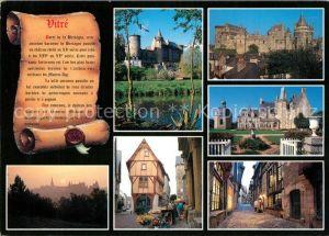Vitre d Ille et Vilaine Le chateau feodal les vieilles maisons et le chateau des Rochers Sevigne Vitre d Ille et Vilaine Kat. Vitre