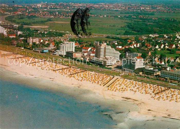 Cuxhaven Duhnen Nordseebad Fliegeraufnahme Cuxhaven Duhnen