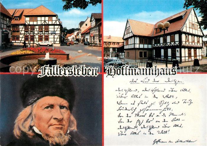 Fallersleben Hoffmannhaus Fachwerk Fallersleben Kat. Wolfsburg