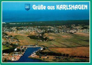 Karlshagen Fliegeraufnahme Hafen Karlshagen Kat. Karlshagen Usedom