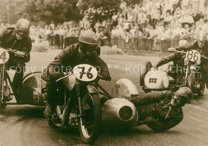 Motorrad Gespann Schaffhausen 1951 Hans Haldemann  Motorrad Kat. Zweiraeder