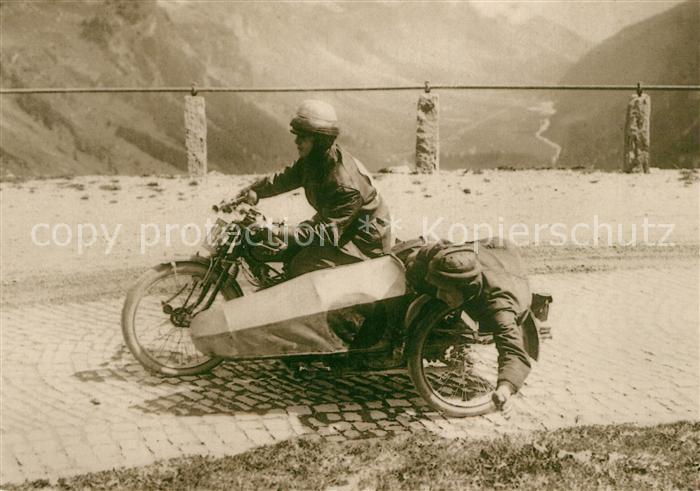 Motorrad Moebus AJS Seitenwagen Klausen 1925 Motorrad Kat. Zweiraeder