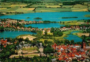 Ploen See Schloss Naturpark Holsteinische Schweiz Fliegeraufnahme Ploen See Kat. Ploen