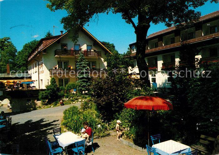 Warmensteinach Hotel Krug Gartenrestaurant Warmensteinach Kat. Warmensteinach Fichtelgebirge