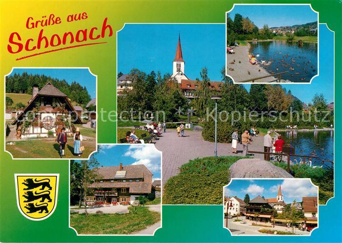 Schonach Schwarzwald Ortsansichten Schonach Schwarzwald Kat. Schonach im Schwarzwald
