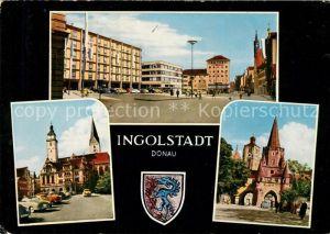 Ingolstadt Donau Rathausplatz Moritzkirche Pfeifturm Kreuztor Muenster Ingolstadt Donau Kat. Ingolstadt