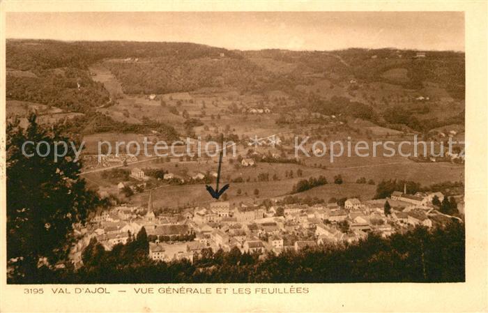Val d Ajol Le Vue generale et les feuillees Val d Ajol Le Kat. Le Val d Ajol