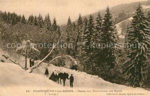 Plombieres les Bains Vosges Dans les Moraines en hiver Plombieres les Bains Kat. Plombieres les Bains