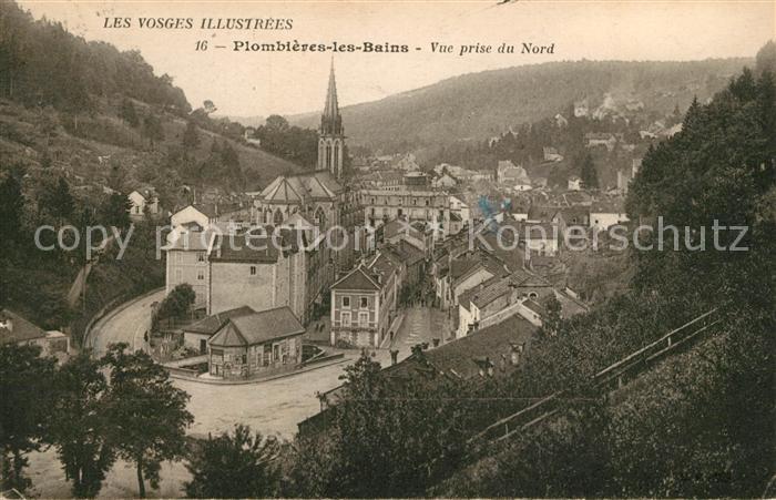 Plombieres les Bains Vosges Vue prise du Nord et Cathedrale Plombieres les Bains Kat. Plombieres les Bains