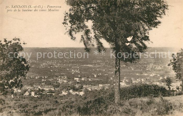 Sannois Panorama pris de la hauteur des vieux Moulins Sannois Kat. Sannois