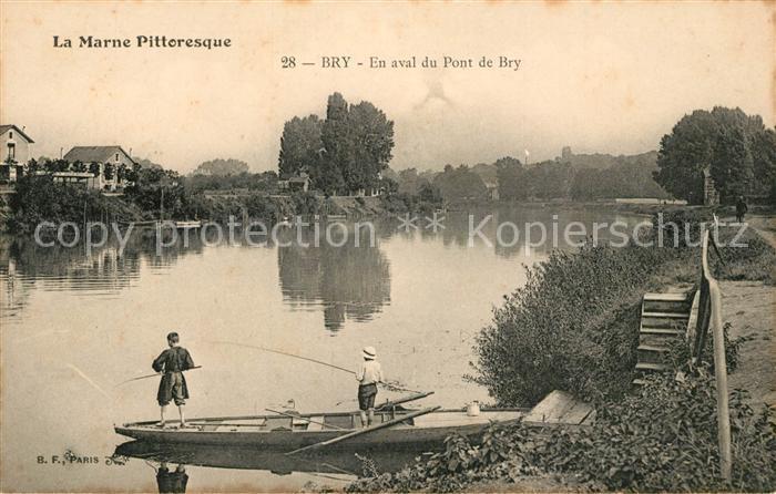 Bry En aval du Pont de Bry La Marne Bry Kat. Bry