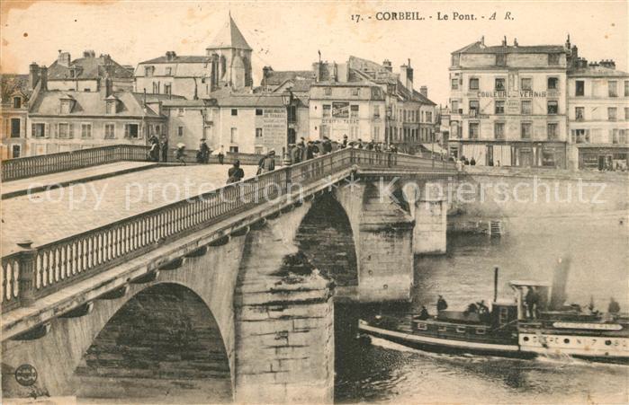 Corbeil Cerf Le Pont Corbeil Cerf Kat. Corbeil Cerf