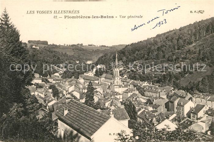 Plombieres les Bains Vosges Vue generale Plombieres les Bains Kat. Plombieres les Bains