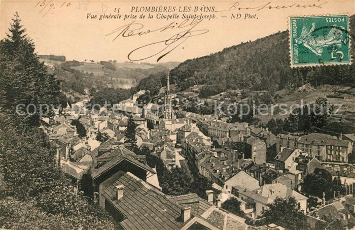Plombieres les Bains Vosges Vue generale prise de la Chapelle Saint Joseph Plombieres les Bains Kat. Plombieres les Bains