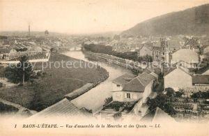 Raon l Etape Vosges Vue d'ensemble de la Meurthe et des Quais Raon l Etape Vosges Kat. Raon l Etape