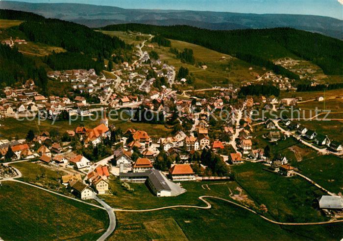 AK / Ansichtskarte Schonach Schwarzwald Fliegeraufnahme Schonach Schwarzwald Kat. Schonach im Schwarzwald