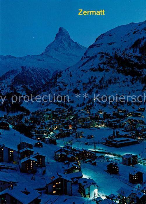 AK / Ansichtskarte Zermatt VS Matterhorn Mt. Cervin  Kat. Zermatt