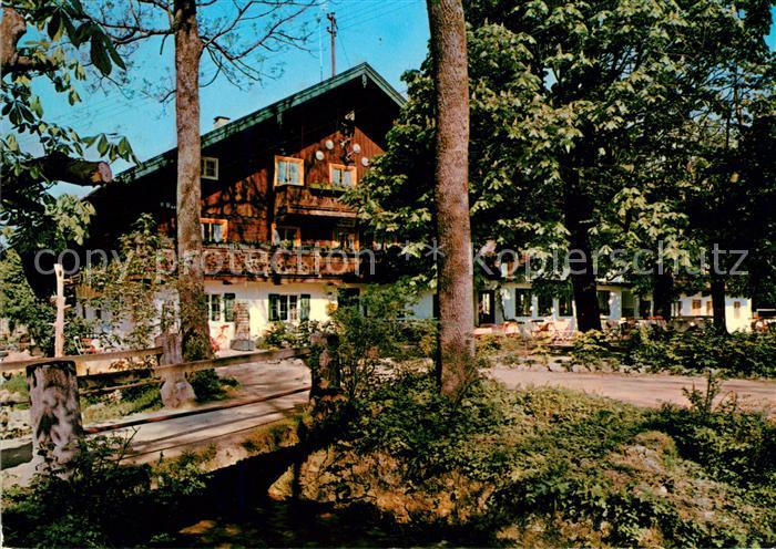 AK / Ansichtskarte Bad Heilbrunn Gasthaus Cafe Ramsau Pension Bad Heilbrunn Kat. Bad Heilbrunn