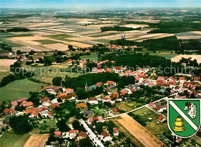 AK / Ansichtskarte Neuenkirchen Lueneburger Heide Fliegeraufnahme Wappen Neuenkirchen Luen Kat. Neuenkirchen