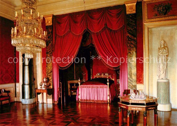 AK / Ansichtskarte Ludwigsburg Wuerttemberg Schloss Schlafzimmer der ...