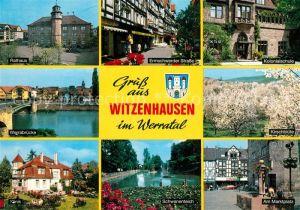AK / Ansichtskarte Witzenhausen Ermschwerder Strasse Kolonialschule Klinik Marktplatz  Witzenhausen Kat. Witzenhausen