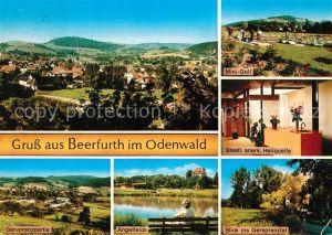 AK / Ansichtskarte Beerfurth Landschaftspanorama Erholungsort Minigolf Heilquelle Gersprenztal Angelteich Beerfurth Kat. Reichelsheim (Odenwald)