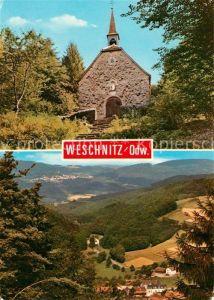 AK / Ansichtskarte Weschnitz Blick von der Walburgiskapelle nach Lindenfels Odenwald Weschnitz Kat. Fuerth
