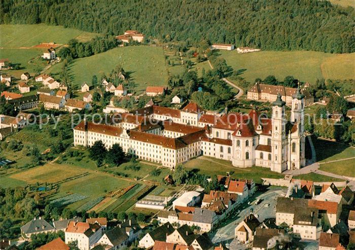 AK / Ansichtskarte Ottobeuren Benediktinerabtei Kloster Fliegeraufnahme Ottobeuren Kat. Ottobeuren