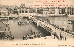 AK / Ansichtskarte Le Havre Le Bassin du Commerce et la Bourse Le Havre Kat. Le Havre