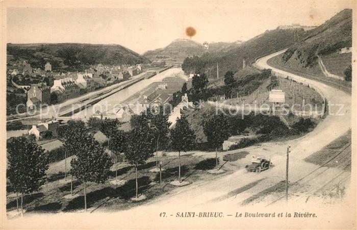 AK / Ansichtskarte Saint Brieuc Cotes d Armor Le Boulevard et la Riviere Saint Brieuc Cotes Kat. Saint Brieuc