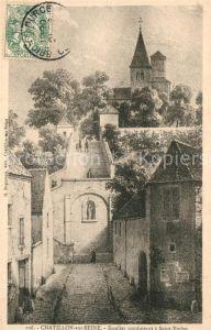 AK / Ansichtskarte Chatillon sur Seine Escalier conduisant a Saint Vorles Chatillon sur Seine Kat. Chatillon sur Seine