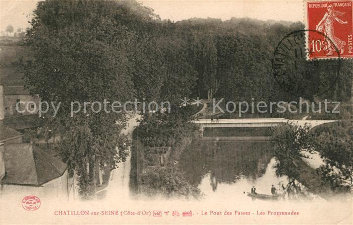 AK / Ansichtskarte Chatillon sur Seine Le Pont des Passes Les Promenades Chatillon sur Seine Kat. Chatillon sur Seine