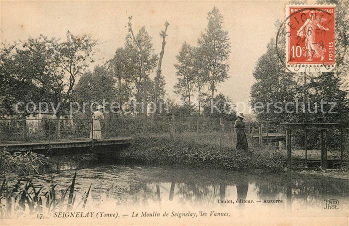 AK / Ansichtskarte Seignelay Le Moulin de Seignelay les Vannes Seignelay Kat. Seignelay