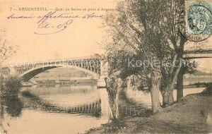 AK / Ansichtskarte Argenteuil Val d Oise Quai de Saine et pont d Argenteuil Argenteuil Val d Oise Kat. Argenteuil
