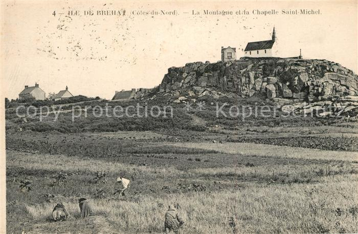 AK / Ansichtskarte Ile de Brehat La Montague et la Chapelle Saint Michel Ile de Brehat Kat. Ile de Brehat