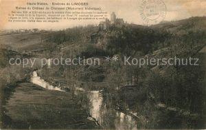 AK / Ansichtskarte Limoges Haute Vienne Ruines du Chateau de Chalusset Limoges Haute Vienne Kat. Limoges